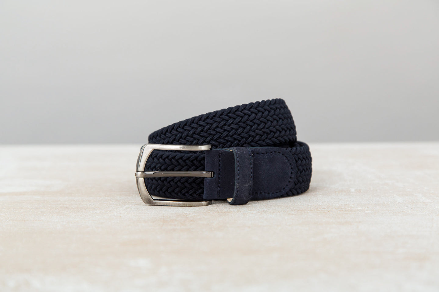 Navy/Navy Suede Braided Belts | J.FitzPatrick Belts For Men