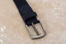 Load image into Gallery viewer, Navy/Navy Suede Braided Belts buckle