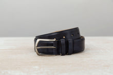 Load image into Gallery viewer, Navy Museum Calf - Leather Belt for Men