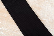Load image into Gallery viewer, Egyptian Cotton Lisle Knee-High Socks - Black