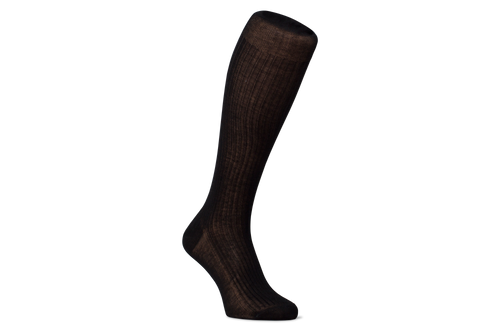 Black Colour Knee-Length Socks | Regent Merino Wool Socks for Men