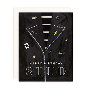 Happy Birthday Stud Card