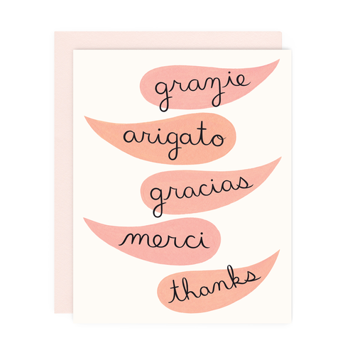 Global Thanks Greeting Card
