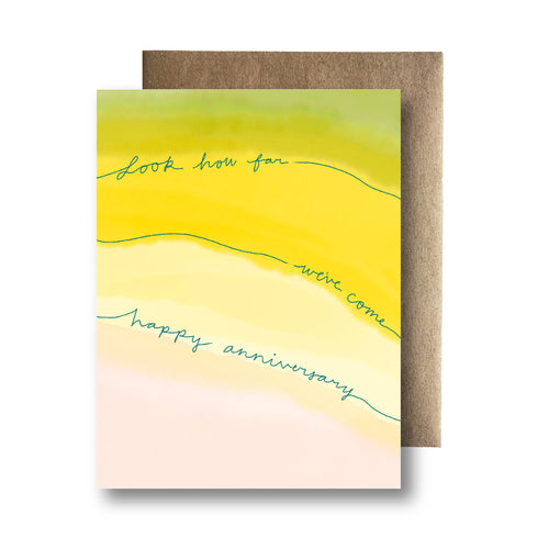 Look How Far We've Come Anniversary Card