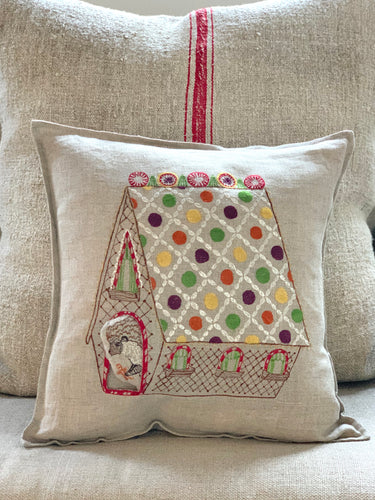 Gingerbread House Pocket Pillow