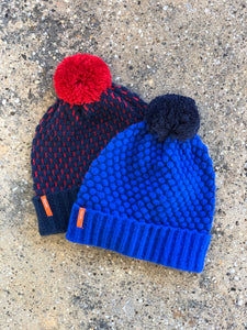Quilted Bobble Hat