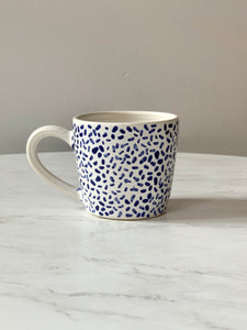 Blue & White Dashes Mugs