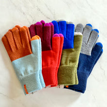 Load image into Gallery viewer, Colorblock Touchscreen Gloves