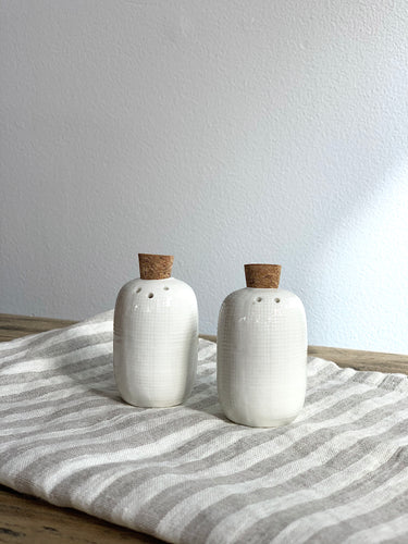 Cork Stopper Salt & Pepper Shakers