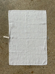 Grey Check Tea Towel