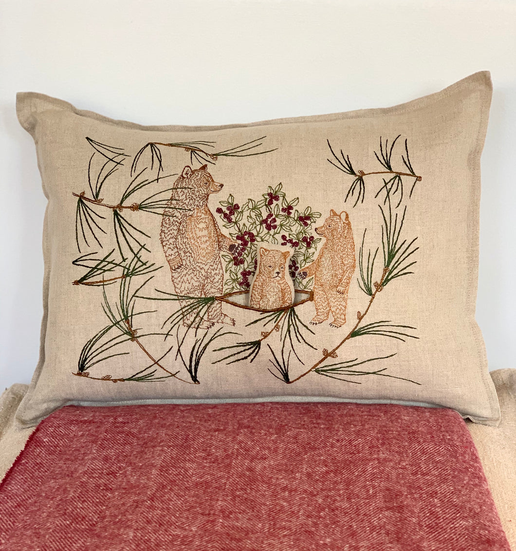 Briar Bears Pocket Pillow