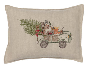 Christmas Tree Car Pocket Pillow