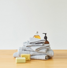 Load image into Gallery viewer, Light Grey Linen Waffle Towels
