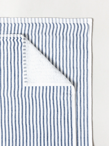 Navy Shirt Stripe Towel
