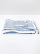 Load image into Gallery viewer, Navy Shirt Stripe Towel