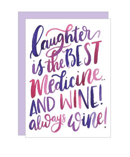 Laughter & Wine Card