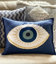 Load image into Gallery viewer, Evil Eye Applique Pillow