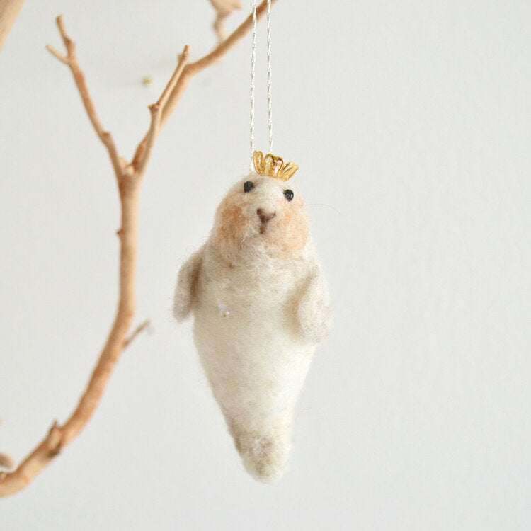 Seal Pup Ornament by Thirdlee & Co.