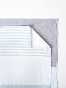 Tri Color Chambray Towel
