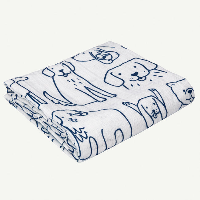 Puppy Print Swaddle