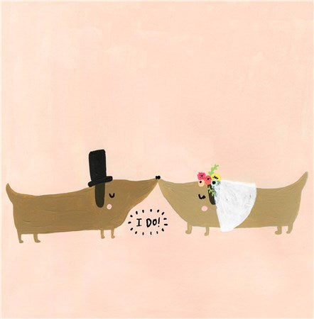I Do! Sausage Dogs Wedding Card