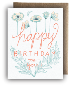 Happy Birthday Poppy Card