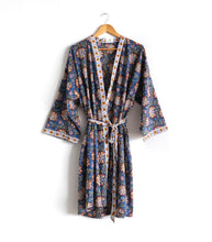 Load image into Gallery viewer, Block Printed Kimono Style Robe