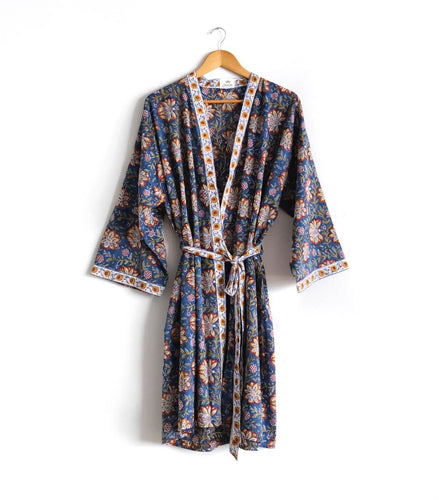 Louise Block Printed Robe