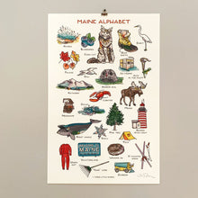 Load image into Gallery viewer, Maine Alphabet Print