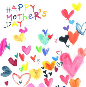 Painted Hearts Mother's Day Card