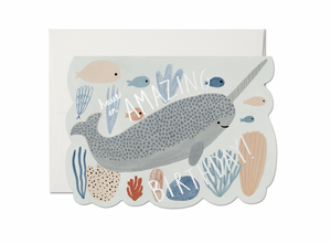 Narwhal Birthday Card