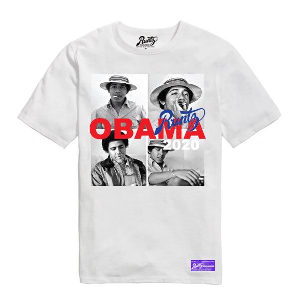 OBAMA RUNTZ 2020 TEE - WHITE