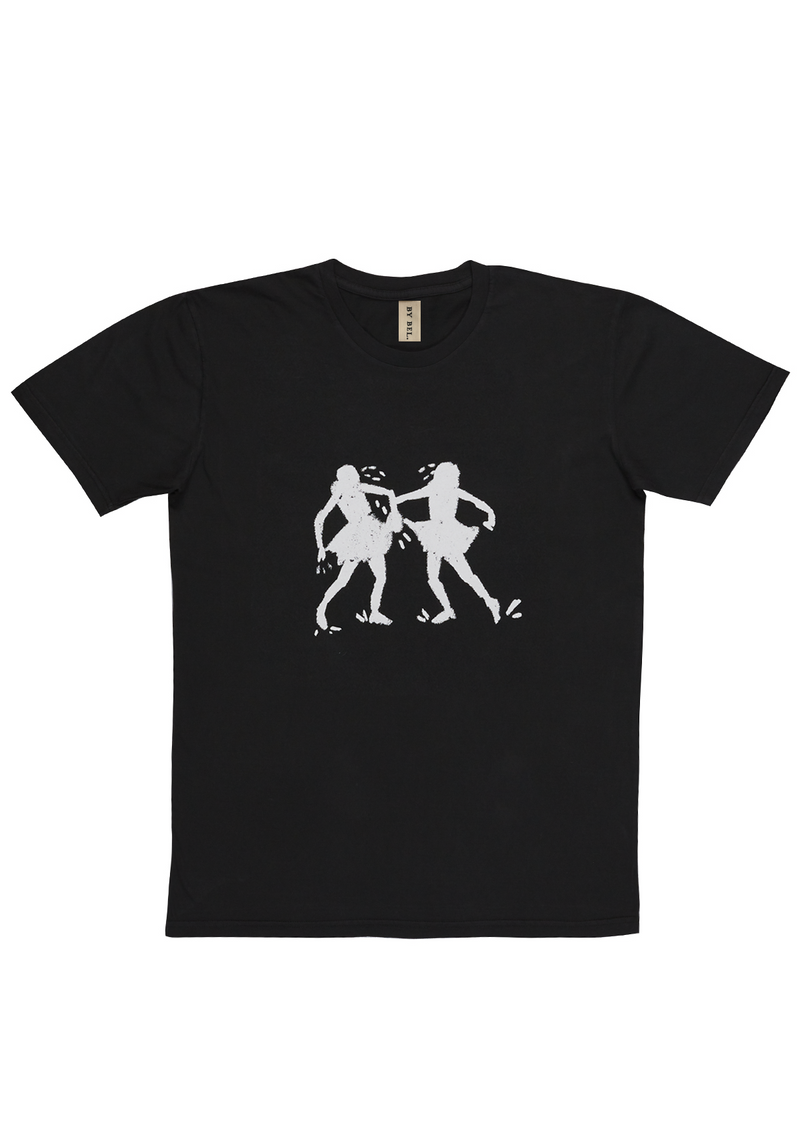 'Shadow Dancing' Washed Black Art T-Shirt