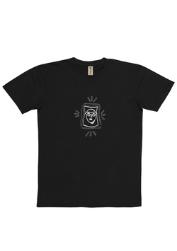 'Goggle Man' Washed Black Art T-Shirt