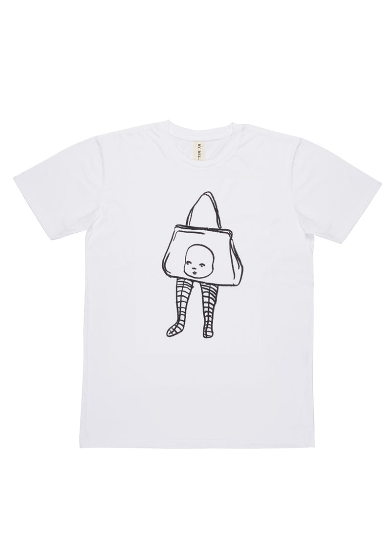 'Baby Purse' White Art T-Shirt