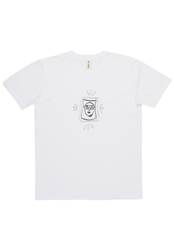 'Goggle Man' White Art T-Shirt