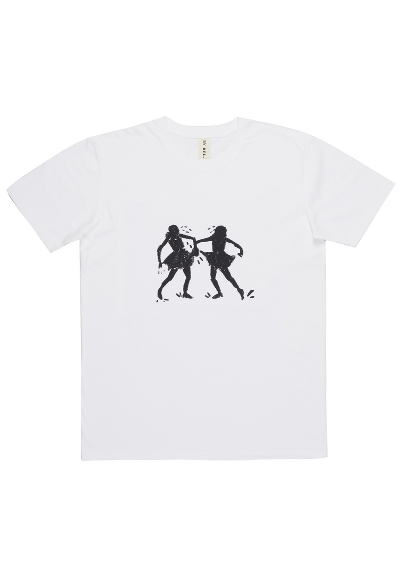 'Shadow Dancing' White Art T-Shirt