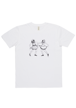'Dancing Ladies' White Art T-Shirt
