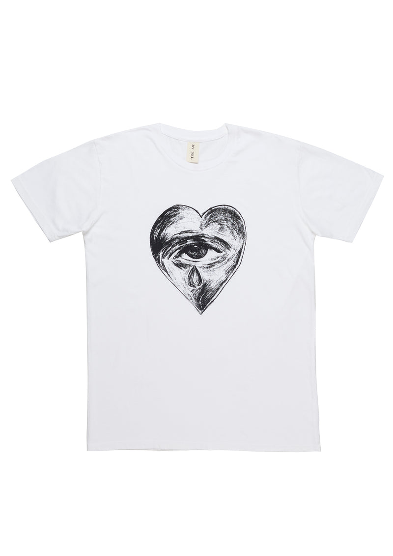 'Heart Breaker' White Art T-Shirt