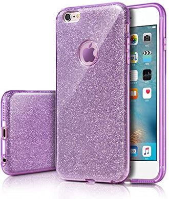 MILPROX Coque iPhone 6s Plus iPhone 6 Plus Bling Glitter Coque Paillettes  Extrêmement Mince 3 Couche de Housse Protection pour iPhone 6 Plus/iPhone  6S Plus Silver