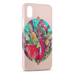 Coque iPhone X & XS Flamant Rose Art Design