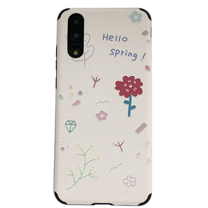 Hello spring En Relief Souple étui pour iphone 11 PRO MAX XS MAX XR XS X 6 6S 7 8 PLUS couverture