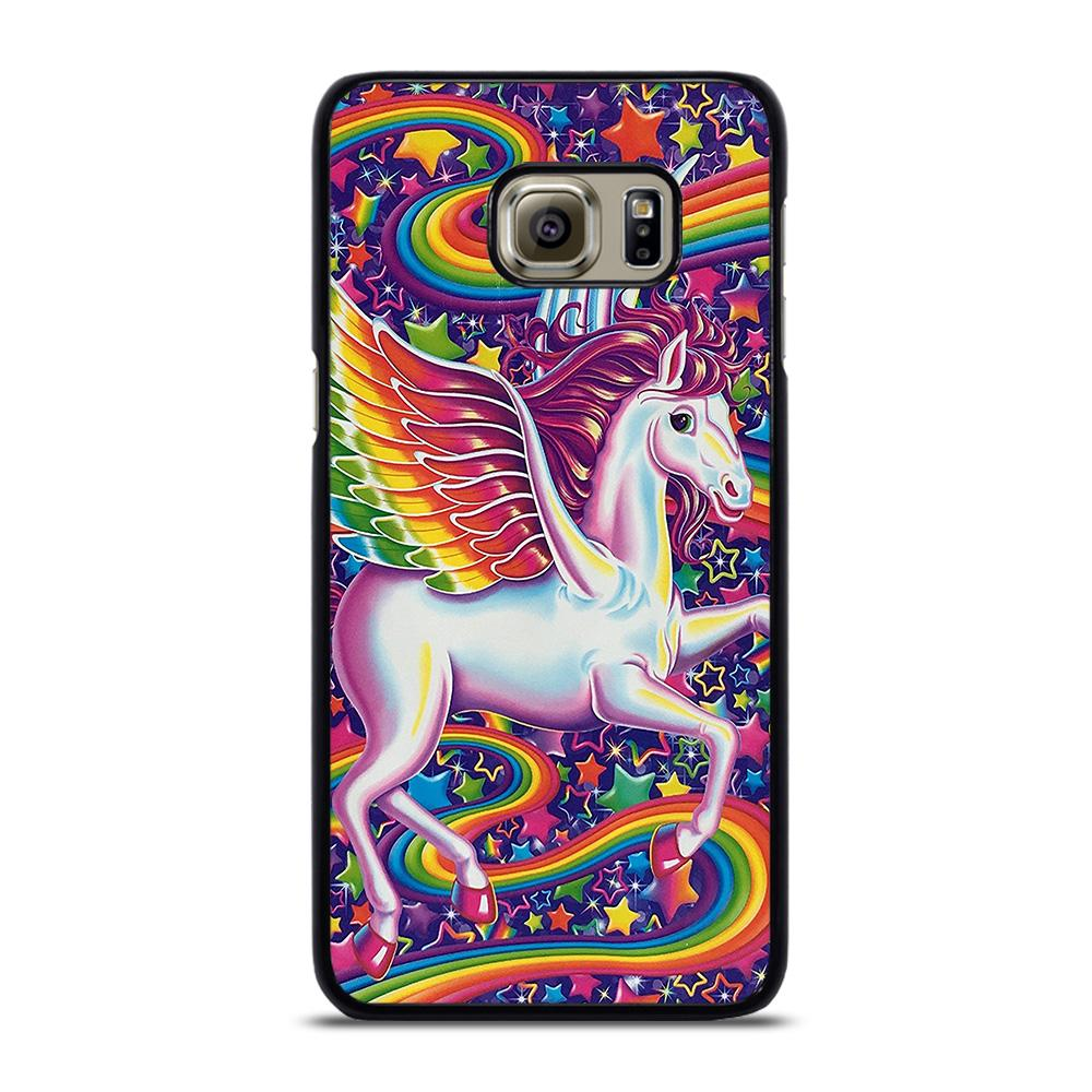 coque custodia cover fundas hoesjes j3 J5 J6 s20 s10 s9 s8 s7 s6 s5 plus edge D32280 LISA FRANK HORSE Samsung Galaxy S6 Edge Plus Case