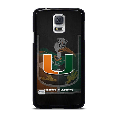 coque custodia cover fundas hoesjes j3 J5 J6 s20 s10 s9 s8 s7 s6 s5 plus edge D34340 MIAMI HURRICANES UM #3 Samsung Galaxy S5 Case