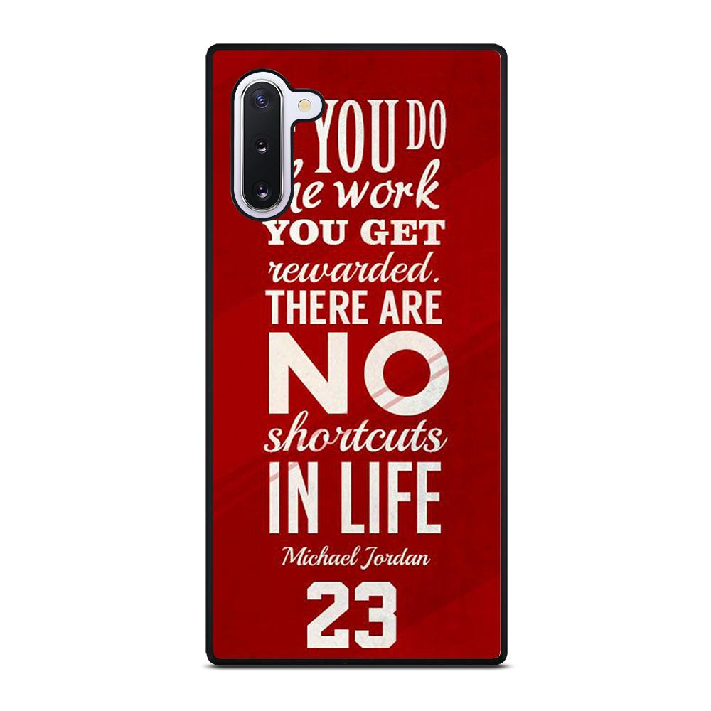 coque custodia cover fundas hoesjes j3 J5 J6 s20 s10 s9 s8 s7 s6 s5 plus edge D34564 MICHAEL JORDAN QUOTES #3 Samsung Galaxy Note 10 Case