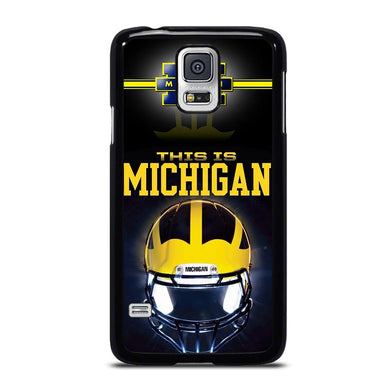 coque custodia cover fundas hoesjes j3 J5 J6 s20 s10 s9 s8 s7 s6 s5 plus edge D34777 MICHIGAN WOLVERINES FOOTBALL #4 Samsung Galaxy S5 Case