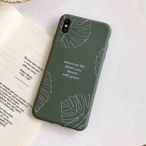 Mode Monstera Feuille Vert tui pour iphone XS Max Soft coque de t l phone Pour 067800b0 3e80 4fdf a2ff a62fe7bbc285 300x300