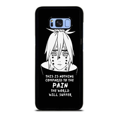 coque custodia cover fundas hoesjes j3 J5 J6 s20 s10 s9 s8 s7 s6 s5 plus edge D36068 NARUTO PAIN PUPPET QUOTE Samsung Galaxy S8 Plus Case