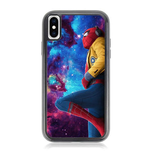 Spiderman Galaxy Z4543 iPhone XS Max coque