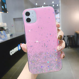 XBXCase brillant Bling Bling Gel paillettes étui pour iphone 11 Pro Max 6 6S 7 8 Plus Macarons